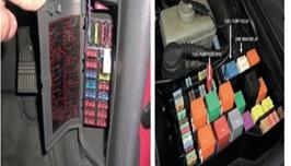 علبة الفيوزات في السيارة