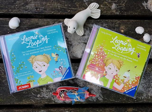 """Heute ein Buch! Die elfenstarke Umwelt-Kinderbuch-Serie """"Leonie Looping"""" und das Thema """"Müll im Meer"""". Die Hörbücher bzw. Audio-Cds werden von Katinka Kultscher gesprochen und interpretiert."""