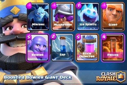 Deck Bowler Giant Arena 8 Ke Atas Clash Royale