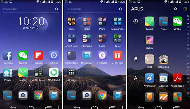 Apus Launcher 5 Aplikasi Launcher Android Terbaik