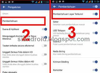 mematikan notifikasi FB di layar android