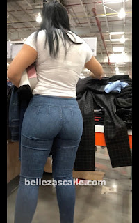 Bonita mexicana cola redonda pantalones lisos apretados
