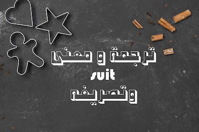 ترجمة و معنى suit وتصريفه