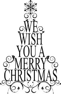we wish you a merry christmas clip art