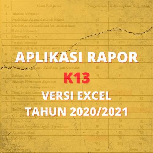 gambar aplikais rapor k13 excel