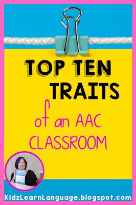 top ten traits of an aac classroom
