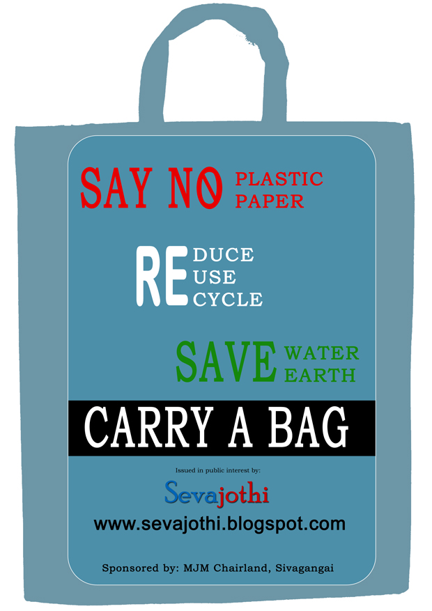 Donate to avoid plastic carry bags
