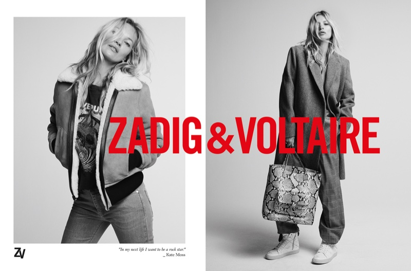 Kate Moss stars in Zadig & Voltaire fall-winter 2019 campaign