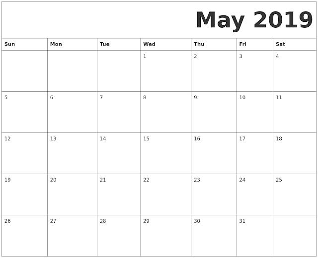 May 2019 Printable Calendar, May 2019 Blank Calendar, May 2019 Calendar Template, May 2019 Calendar Printable, May 2019 Calendar. October Calendar 2016, October Calendar, Print May Calendar 2019, Calendar 2019 May, May Templates Calendar 2019