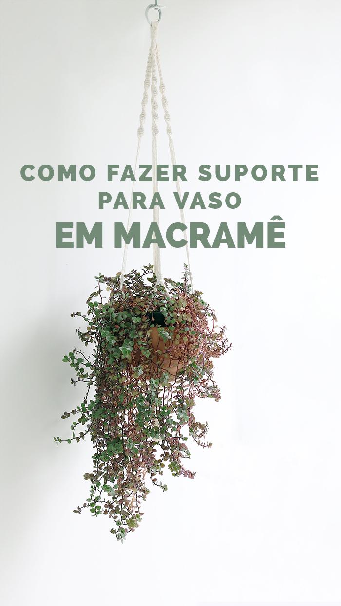 suporte de macrame