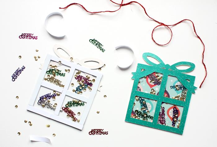 christmas present shaker card guide