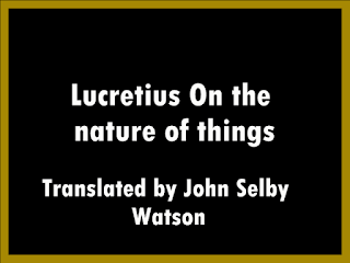 Lucretius On the nature of things: a philosophical poem