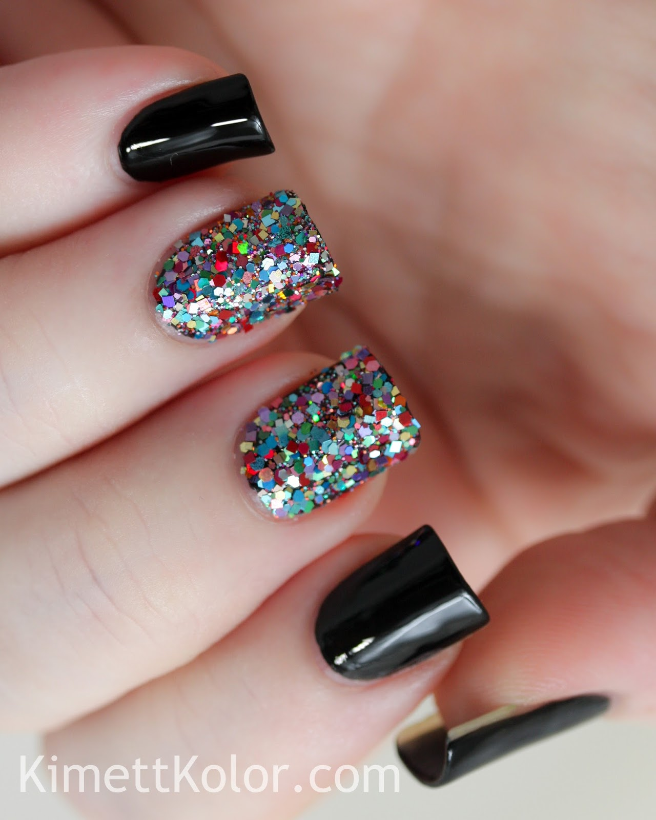 Glitter Nail Trends: Glitter Covered Nails...with Stamping!