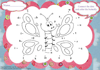 abc dot-to-dot butterfly worksheet