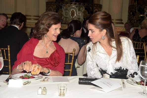 Queen Silvia and Queen Rania attend World Childhood Foundation USA ThankYou Gala 2015