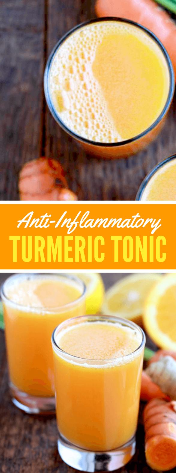 ANTI-INFLAMMATORY TURMERIC TONIC #drinks #healthy