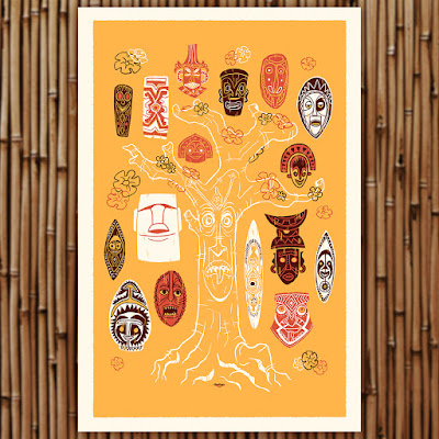 Tiki Bar Timed Edition Screen Prints by Ian Glaubinger x All Star Press Chicago