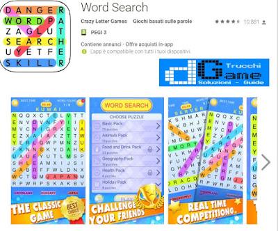 Soluzioni Word Search | Tutti i livelli risolti con screenshot soluzione
