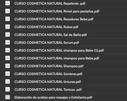 curso cosméticos