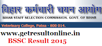 BSSC Result 2015