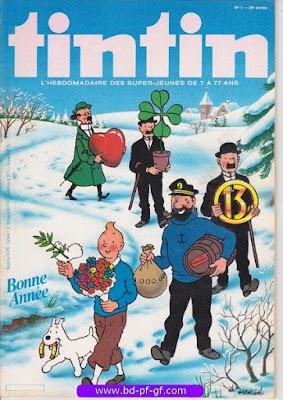 Tintin-numéro 1, année 38, 1983, Couverture Hergé