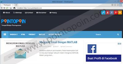 Web Browser dengan MATLAB