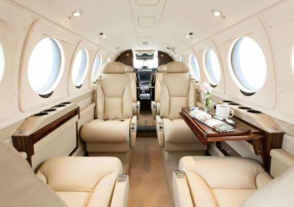 Beechcraft King Air 250 interior