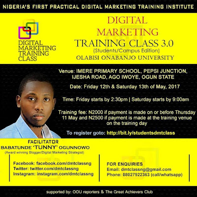 Absolute Hearts: #DMTClassNG: Digital Marketing Training