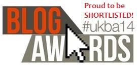 I've Been Shortlisted in the UK Blog Awards 2014!!