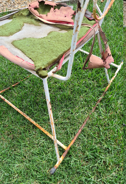 vintage outdoor furniture upcycle to modern on trend living furniture