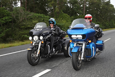Richard rides with son Kyle Petty.   #KPCharityRide