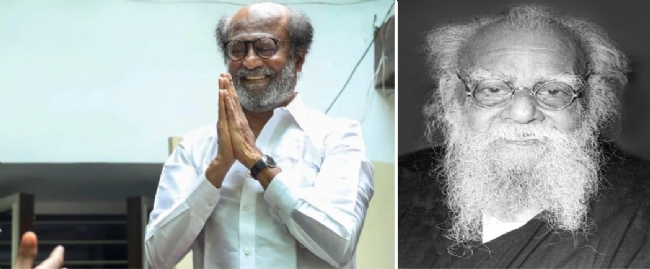 Superstar Rajnikanth exposes Periyar's Hindu hatred - Spooked Dravidian chauvinists protest and file complaint