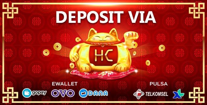 Hokicash deposit via pulsa + ewallet