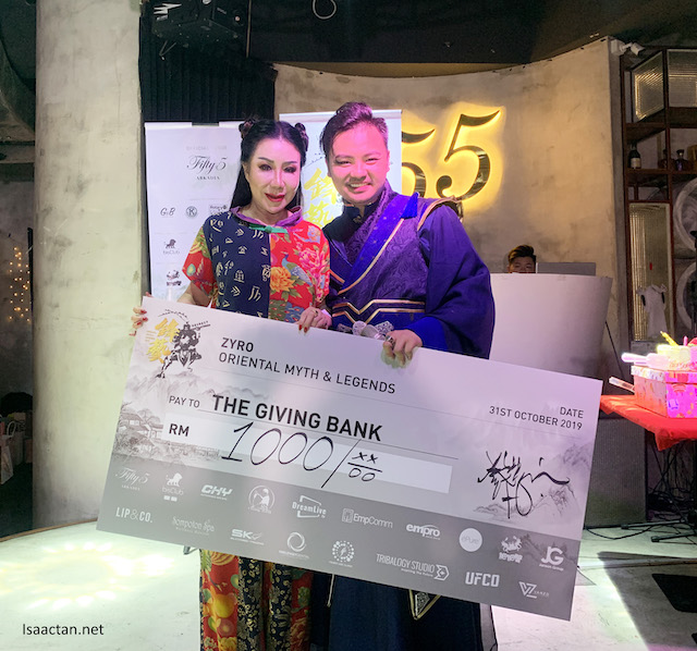 Donations and proceeds to The Giving Bank
