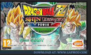 Dragon Ball Z Shin Budokai Power (MOD) Broly PPSSPP