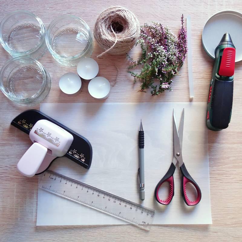 upcycling idee windlicht basteln f r den herbst perlenkuchen. Black Bedroom Furniture Sets. Home Design Ideas