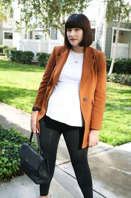 OOTD, WIWT, Pregnancy outfit, Maternity style, Zara, autumnal, Blazer, Seraphine Maternity,