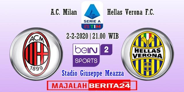 Prediksi AC Milan vs Hellas Verona — 2 Februari 2020