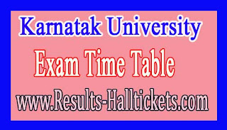 Karnatak University MBA VIth Sem 2016 Exam Time Table