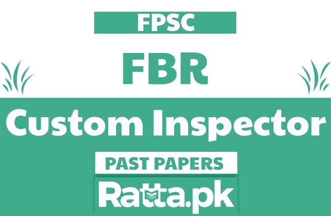 FPSC Custom Inspector solved Past Papers MCQs pdf - Custom Intelligence Officer