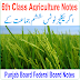 6th Class Agriculture PDF Notes Download