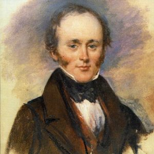 Painting by Alexander Craig during the British Association meeting in Glasgow in 1840 when Lyell was 43 years old.