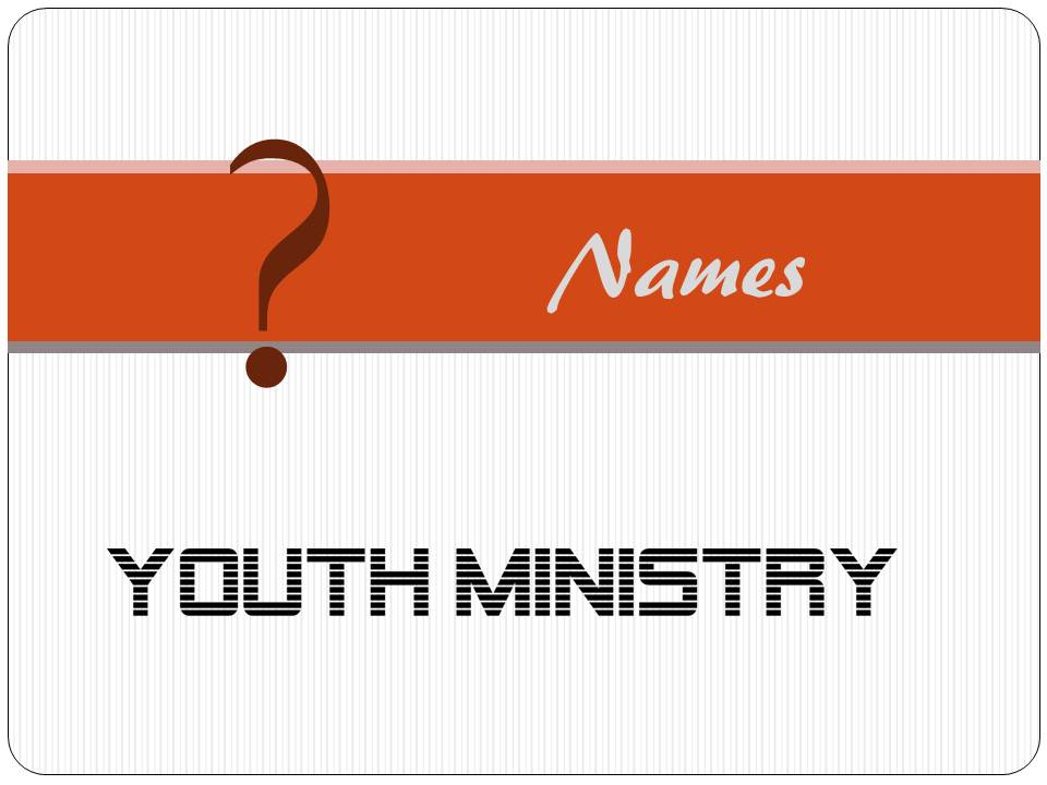 YouMinChu (Youth Ministry Chunks): Creative and meaningful ...