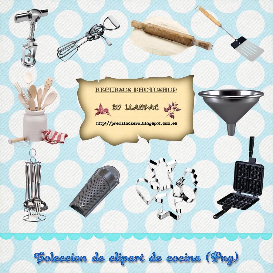 Recursos Photoshop Llanpac Coleccion De Clipart De Cocina Para
