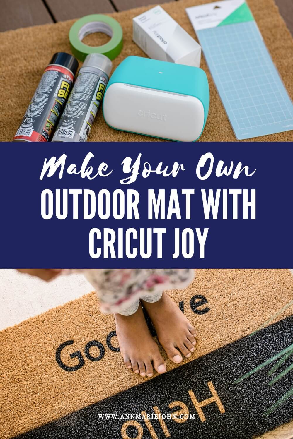 DIY Personalized Outdoor Mats with Cricut Joy