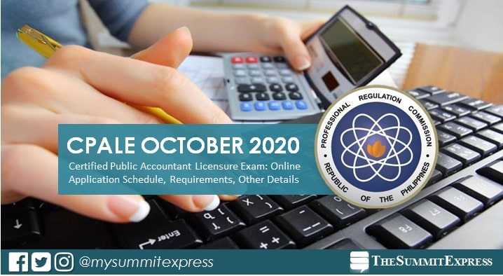 October 2020 CPA board exam online application schedule