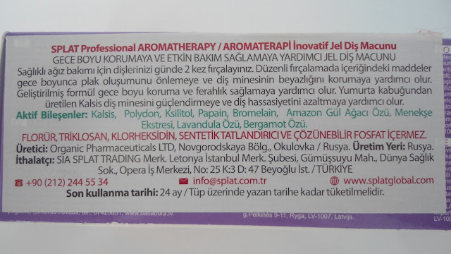 Splat Aromatherapy Diş Macunu