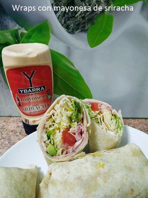 Wraps con mayonesa de sriracha