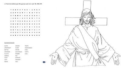 Mots cachés de l'Evangile du Christ Roi année B