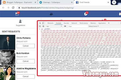 script auto cancel all friend request facebook terbaru